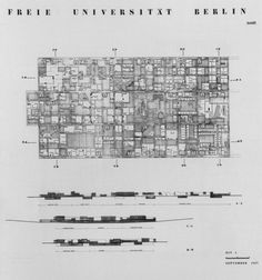 Candilis, Josic, Woods, Schiedhelm. Berlin Free University, 1963. Competition panel nº5