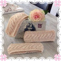 Pannebånd med oppskrift ❤️ - Lilly is Love Sewing Projects, Projects To Try, Diy And Crafts, Arts And Crafts, Baby Barn, Knitted Hats Kids, Headbands For Women, Women's Headbands, Knit Crochet