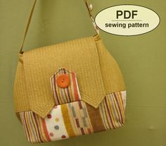Sewing pattern to make the Home Front Bag PDF pattern
