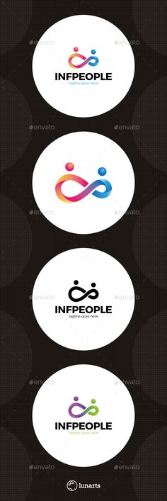 Infinity People  Logo Design Template Vector #logotype Download it here: http://graphicriver.net/item/infinity-people-logo/15489596?s_rank=50?ref=nexion