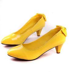 Sweet Colors Hot Women's Low Heels Bowtie Pointy Toe Office Ladies Gtrils Pumps
