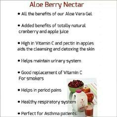 Aloe Berry Nectar  contains all the wonders of Aloe Vera Gel and with amazing mellow apples and cranberries.  Wow! Refreshing and getting all your nutrients at the same time.  Order yours today  www.lomaso.myforever.biz/store