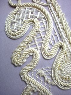 Soutache and beaded embroidery