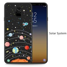 Silicone Case For Samsung Galaxy S9 Case Cute With Original 3D Relief Design For Samsung Galaxy S9 Plus Cover S8 Funda - Solar System / For Galaxy S9 Plus