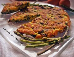 Frittata di asparagi selvatici e scamorza affumicata