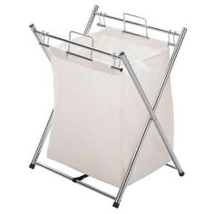 Deluxe Chrome & Canvas laundry Hamper- Ideal Laundry Hamper for the Family-Price £39.99  #Laundry Hampers & Trolleys, #Laundry Bags & Hampers, #Accessories, #Accessories