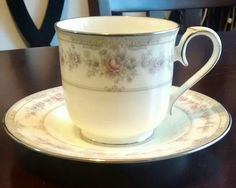 "Noritake - Shenandoah - this is my ""personal"" China pattern. It's so beautiful. I love the cream color and delicate flowers."