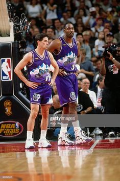 Jazz Basketball, John Stockton, Karl Malone, Utah Jazz, 1990s, Nba, Fitness, Sports, Fashion
