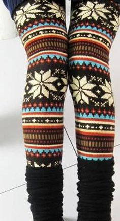 Dripping With Snowflakes Leggings: Abella Boutique
