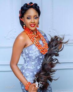 African Women, African Fashion, Nigerian Fashion, African Beauty, Bridal Beauty, Bridal Hair, Igbo Bride, Nigerian Traditional Wedding, African Wedding Attire