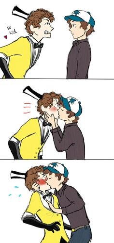 Anonymous said: Sexiness request: billDip at is fullest Answer: heheheh, poor Bill didn't think past the flirting stage. Gravity Falls Dipper, Anime Gravity Falls, Reverse Gravity Falls, Gravity Falls Comics, Gravity Falls Bill, Reverse Falls, Billdip Smut, Billdip Comic, Cute Gay Couples