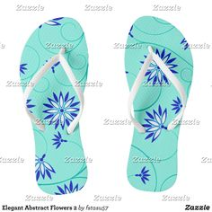 Elegant Abstract Flowers 2 Flip Flops - Durable Thong Style Hawaiian Beach Sandals By Talented Fashion & Graphic Designers - #sandals #flipflops #hawaii #beach #hawaiian #footwear #mensfashion #apparel #shopping #bargain #sale #outfit #stylish #cool #graphicdesign #trendy #fashion #design #fashiondesign #designer #fashiondesigner #style