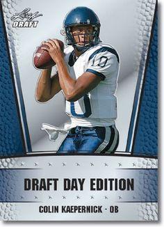 2011 Leaf NFL Draft Day Edition Football Card #6 Colin Kaepernick RC - San Francisco 49ers (RC - Rookie Card) NFL Rookie Trading Card by Leaf. $4.97. 2011 Leaf NFL Draft Day Edition Football Card #6 Colin Kaepernick RC - San Francisco 49ers (RC - Rookie Card) NFL Rookie Trading Card