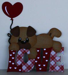 I used the love dog w balloon cutting file.