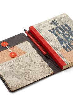 You Globe, Girl Journal. Document every twist and turn of your travels in this cartographic notebook! #multi #modcloth