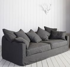 Antibes Linen Sofa - another live-in dream. from www.grahamandgreen.com