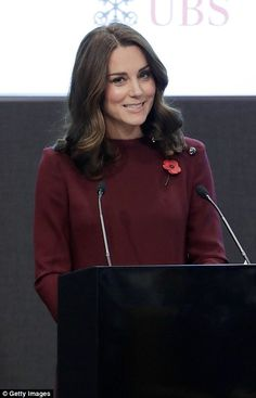 The Duchess also gave a speech in which she said she was still getting used to doing the s...