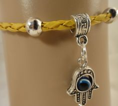 Kabbalah Hand of Hamsa Evil Eye Braelets | asterling - Jewelry on ArtFire