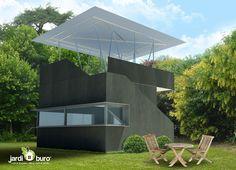 Un bureau pour le jardin. Jardiburo