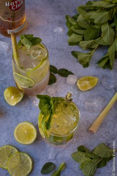 This Lemongrass, Kaffir Lime and Ginger Mojito is a beautiful update to the classic. Ginger adds a punchy kick while the lemongrassand kaffir lime add a lovely floral note. - (still need to work on the balance of ginger and syrup Lime Leaves Recipes, Lime Recipes, Vegan Recipes, Kaffir Lime Cocktail, Ginger Mojito, Alcoholic Cocktails, Drinks, My Favorite Food, Recipes