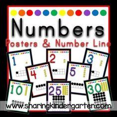 Printables numbers for kindergarten math center or kindergarten classroom