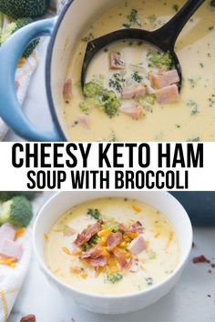 This hearty and delicious Keto Ham Soup recipe is chock full of broccoli and cheese for a cozy and comforting meal It s easy to make and the perfect way to use leftover ham keto soup recipes low carb soup recipes keto recipes low carb recipes keto lowcarb Low Carb Soup Recipes, Keto Recipes, Cooking Recipes, Healthy Recipes, Healthy Fats, Dessert Recipes, Recipes Dinner, Amish Recipes, Dutch Recipes