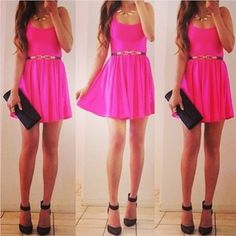beautiful pink dress: FOLLOW»»»»»giselle garcia FOR NEW UPDATES EVERYDAY :-) xoxo
