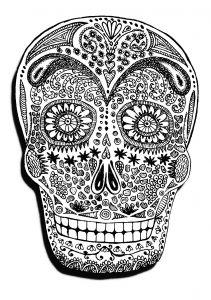 Halloween Skeleton Head