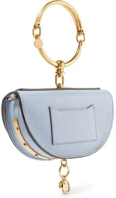 0ac864962e4f Pastel-blue textured-leather Snap-fastening front flap Designer color:  Washed Blue Comes with dust bag Weighs approximately Made in Spain