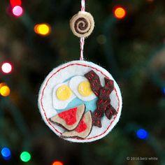 Wakey Wakey Eggs and Bakey Ornament PDF PATTERN by betzwhite on Etsy https://www.etsy.com/listing/478454612/wakey-wakey-eggs-and-bakey-ornament-pdf