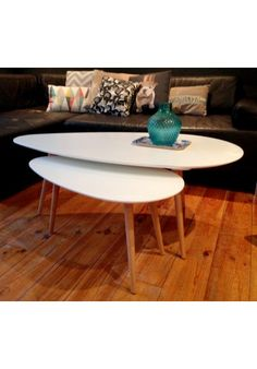 Tables basses gigognes blanches