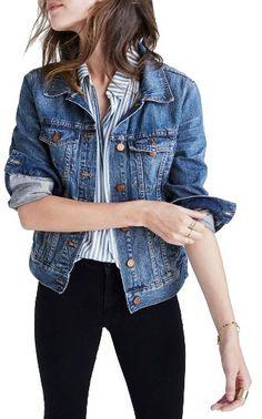 Denim Jeansjacke für den Herbst