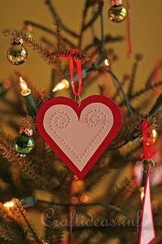Red Heart Paper Ornament