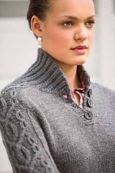 Ravelry: Hitch Pullover pattern by Vanessa Ewing. Pattern in Interweave Knits: Fall 2014.  Gorgeous!