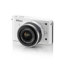 Nikon 1 J1 10.1 MP HD Digital Camera System with 10-30mm VR 1 NIKKOR Lens (White)