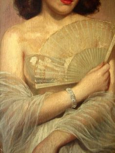 Portrait of a Woman (detail), William Russell Flint