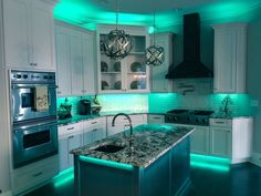Full Color LED Accent Lighting great for kitchens and man caves by RailTech LED