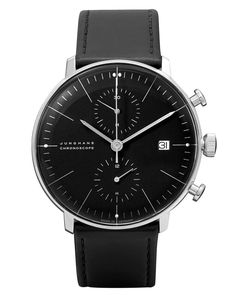 Max Bill Automatic Black Chronoscope Watch by Junghans