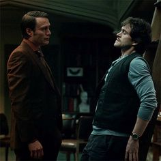 Mads Mikkelsen as Dr. Hannibal Lecter & Hugh Dancy as Will Graham