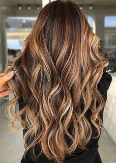 Brown Hair Balayage, Blonde Hair With Highlights, Hair Color Balayage, Brown Blonde Hair, Caramel Balayage, Black Hair, Caramel Highlights, Light Brown Highlights, Honey Balayage