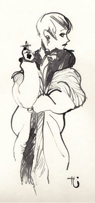 Girl in fur by Uwe Heidschötter