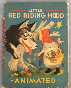 Vintage Little Red Riding Hood Animated by Julian Wehr 1944 Duenewald Printing