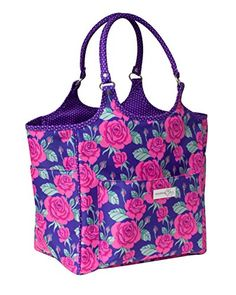 Everything Mary Everything Mary Deluxe Knitting Tote-14.25-inch x 10.5-inch x 13-inch Rose Print