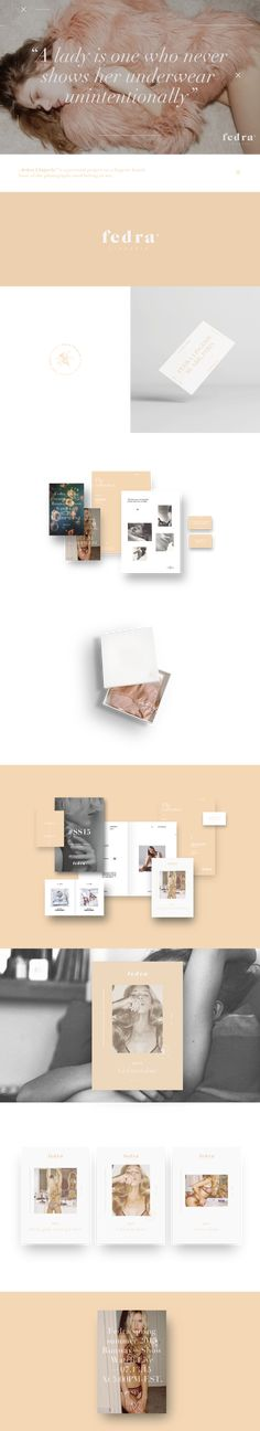Fedra® Lingerie.- Branding on Behance