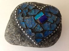 Heart Mosaic Rock Paperweight Garden Stone by PalsCreations, $22.50