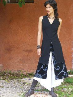 ZIP TUNIC-womens tunic-Womens vest-Fall fashion-Womens tailored vest-Office fashion- plus size -Sleeveless Womens jacket in black. $135.00, via Etsy. ::SHIHAR::