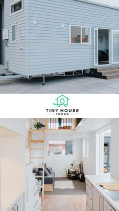 Coming in from New Zealand, this build is home to a mother and her growing toddler daughter who was 9 months old at the time of the build. They wanted to keep the space open and fresh, while making it safe for a toddler (no easy feat!!). Read more here! #tinyhouseforus #tinyhouse #tinyhome #openspace #smallspace #momlife #toddler