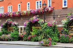 Restaurant decorated with flowers in London, England. Royalty free stock photos. All pictures are free for commercial and personal use. www.http://publicdomainpictures.net