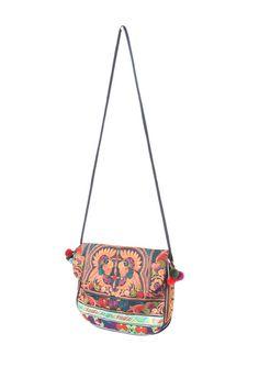 566ce9fbfed Tote Bag Cross-Body Purse HMONG Embroidered Fabric Handmade Fair Trade  Thailand (BG177-MOB)