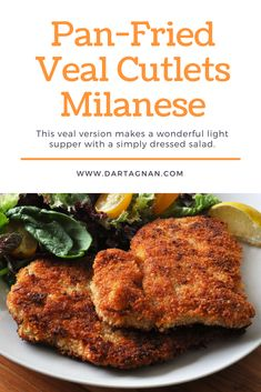 Schnitzel, tonkatsu, cotoletta… no matter the language, we love a pan-fried breaded cutlet. This veal version makes a wonderful light supper with a simply dressed salad. We added a bit of Parmesan to the egg wash for extra flavor. Veal Recipes, Cutlets Recipes, Gourmet Recipes, Cooking Recipes, Healthy Recipes, Beef Cutlets, Veal Cutlet, Veal Scallopini, Milanese Recipe